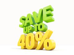 save up to 40% - stock illustration