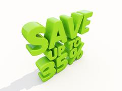 save up to 35% - stock illustration