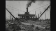 Lumberjacks working in sawmill Stock Footage