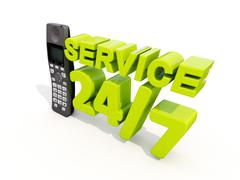 service and suport - stock illustration