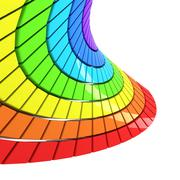 Spectrum made of colorful cubes Stock Illustration