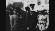 General standing with royal women and officials Stock Footage