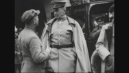 General Paul von Hindenburg talking with officers Stock Footage