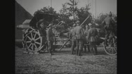 Military soldiers loading ammunition for war Stock Footage