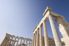 Ancient Ruins Of The Acropolis - stock photo