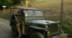 American military vehicles camp 04 Stock Footage
