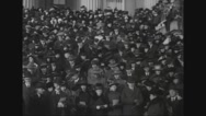 Josephus Daniels joins carollers at treasury building Stock Footage