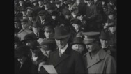William Gibbs McAdoo joins carollers at treasury building Stock Footage