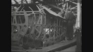 Workers assembling the fuselage sections Stock Footage
