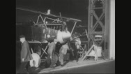 Workers bringing the aircraft for test ride Stock Footage