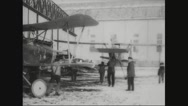 Workers taking the aircraft for test ride Stock Footage