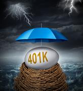 retirement investment security - stock illustration