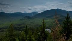 Motion Time Lapse on Mountain Summit - Adirondacks Stock Footage