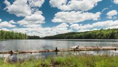Motion Time Lapse on Lake with Moving Clouds Stock Footage