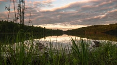 Motion Time Lapse of Sunset in Adirondacks Stock Footage