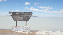 bonneville salt flats 4K - stock footage