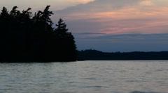 Sunset on Lake in Adirondacks Stock Footage