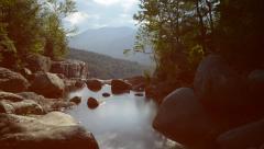 Scenic mountain waterfall timelapse Stock Footage