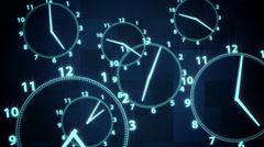 Clock  time illusion background Stock Footage