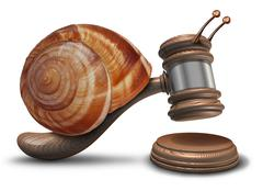 slow justice - stock illustration