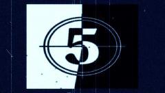 Film Leader Countdown - 4K Stock Footage