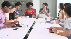 Designers Meeting To Discuss New Ideas Stock Footage