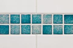 Bathroom tiles Stock Photos