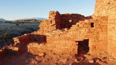 4K Sun on Lomaki Pueblo at Wupatki Stock Footage