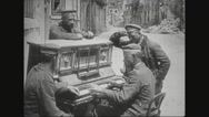 German soldier playing the piano Stock Footage