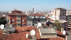 Suburban Landscape of Maltepe, Istanbul Stock Footage
