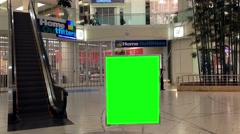 Green billboard for your ad inside metropolis at metrotown Stock Footage