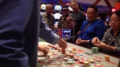 people playing roulette in casino - stock footage