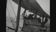 British planes getting ready for reconnoitre Stock Footage