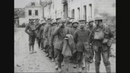 Military soldiers walking in group Stock Footage
