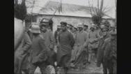 Prisoners walking in a row Stock Footage
