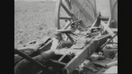 Destroyed cannon after war Stock Footage
