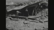 Destroyed cannon and artillery after war Stock Footage