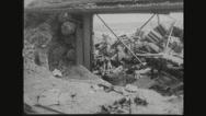 Heap of destroyed artillery after war Stock Footage
