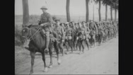 Military soldiers returning after war Stock Footage