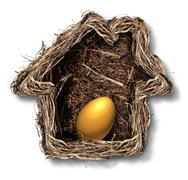 home finances - stock illustration