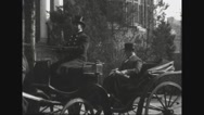 Secretary Josephus Daniels riding in horse carriage Stock Footage