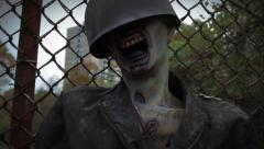 Zombie Soldier | Decaying Earth | Tracking Shot 3 Stock Footage