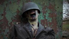 Zombie Soldier | Decaying Earth | Tracking Shot 2 Stock Footage
