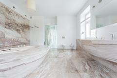 Granitic bathroom Stock Photos