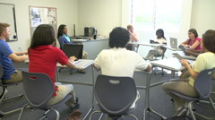 High School Students Taking Part In Group Discussion Stock Footage