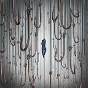 escape the lure - stock illustration