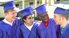 Slow Motion Sequence Of High School Students At Graduation Stock Footage