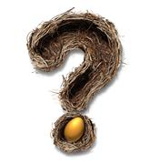 Retirement nest egg questions Stock Illustration