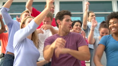 Audience Dancing At Concert Performance In Slow Motion - stock footage