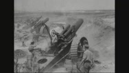 Military soldiers firing from tank Stock Footage